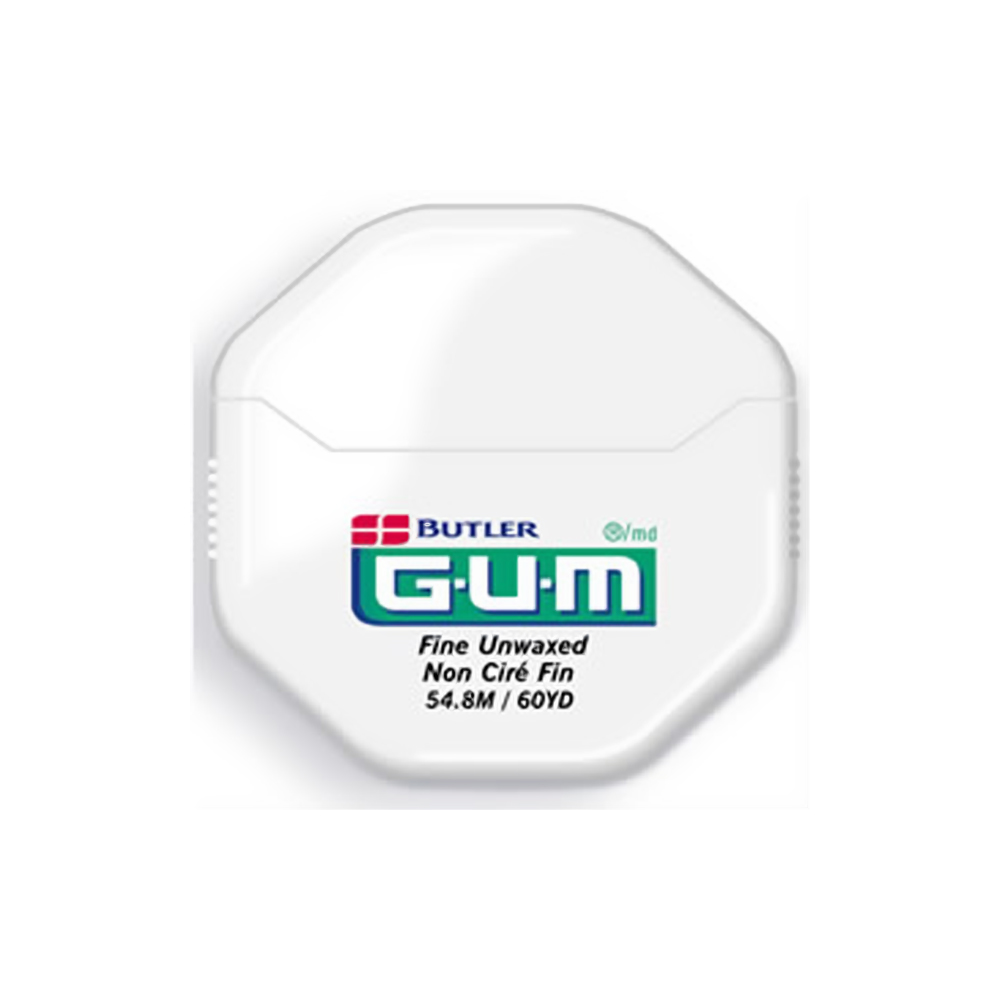 GUM 60 Yard Unwaxed Fine Floss (Jumbo Pack of 36)