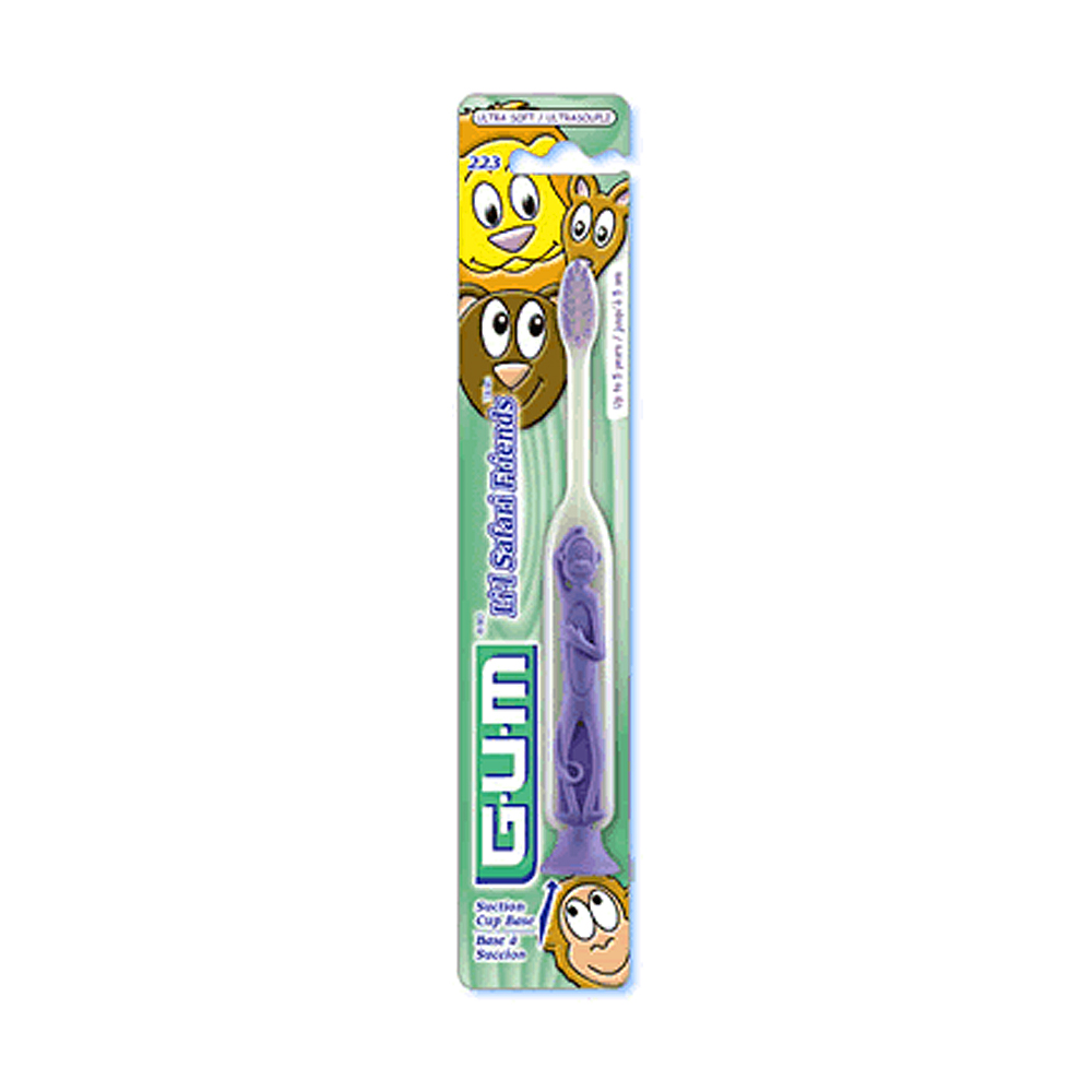 GUM Safari Friends Toothbrushes (12 Pack Value)